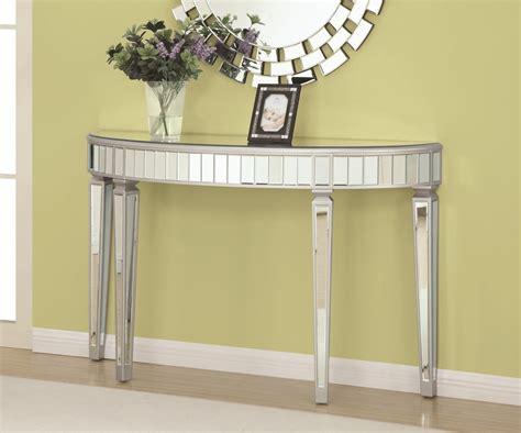 silver and glass sofa table coaster 950183 silver glass console table a sofa
