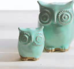 Owl Home Decor Accessories Mint Green Owl And Owlet And Child Home Decor