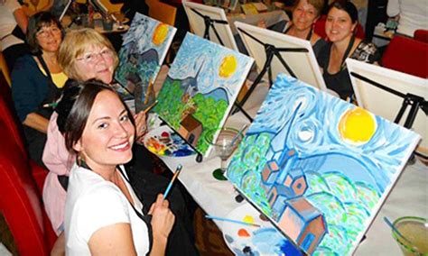 paint nite portland oregon painting class wine and canvas groupon