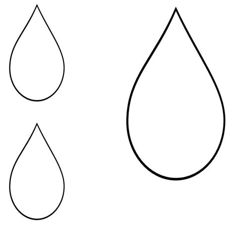 raindrop template template of a raindrop clipart best