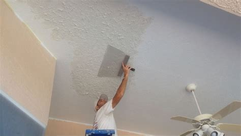 How To Get Thick Knock Down Texture On The Roof Home Thick Ceiling Paint