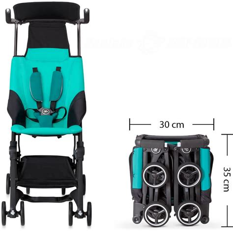 Canapy Beds goodbaby pockit sea port blue smallest folding stroller