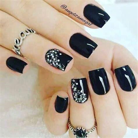imagenes de uñas negras con azul las mejores u 209 as negras decoradas 140 dise 209 os