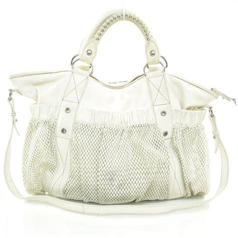 Miu Miu Lambskin Mesh Shoulder Bag miu miu lambskin mesh shoulder bag white 26288