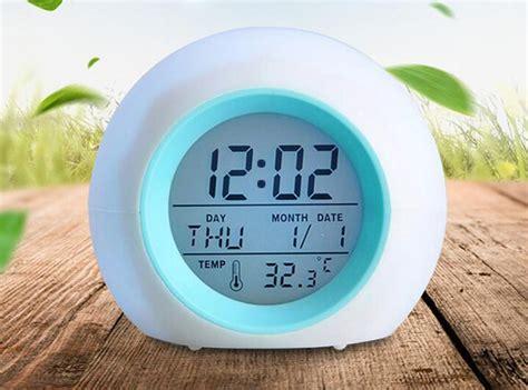 20pcs color change multi function led alarm clock digital alarm clock led glowing