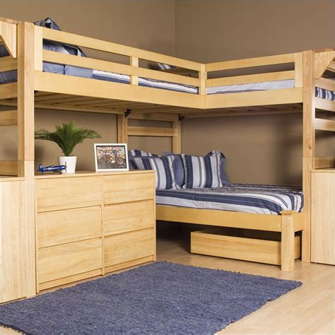 Bunk Beds With Three Beds 1000 Ideas About Loft Bed On Lofted Beds Loft Bed Frame And Cool Loft Beds