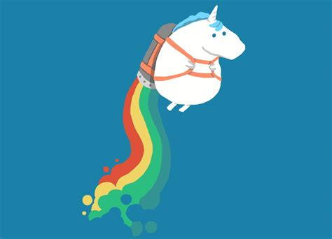 unicorn rainbow fat unicorn on rainbow jetpack by radiomode threadless