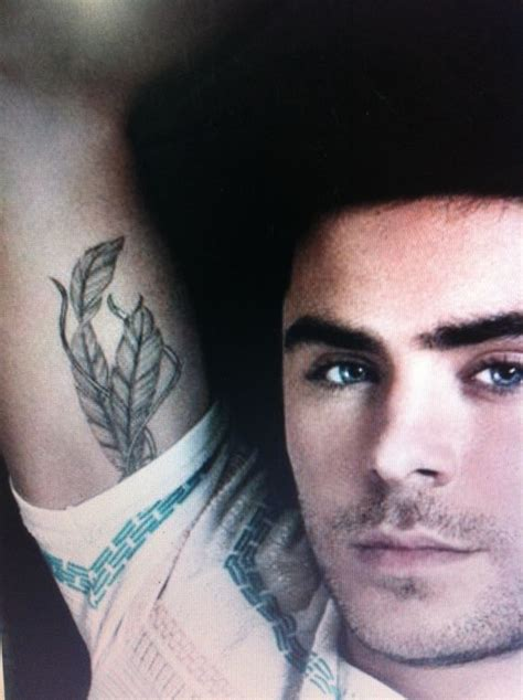 zac efron feather tattoo design zac efron s ink ideas zac efron and