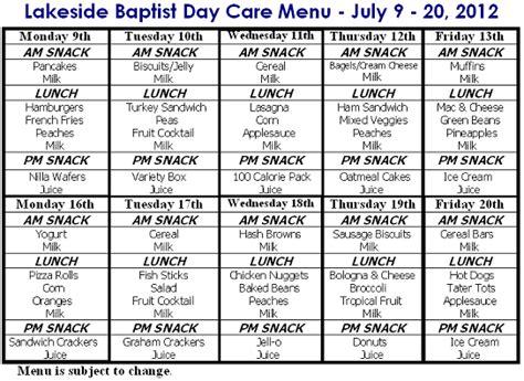 cacfp menu template pin cacfp weekly menu planning doc on