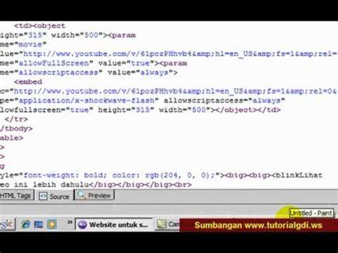 cara membuat web gratis youtube cara membuat website part 16 youtube im youtube