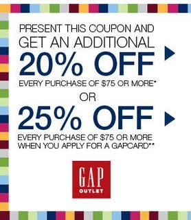 gap outlet printable coupon usa savings chatter gap outlet store printable coupon