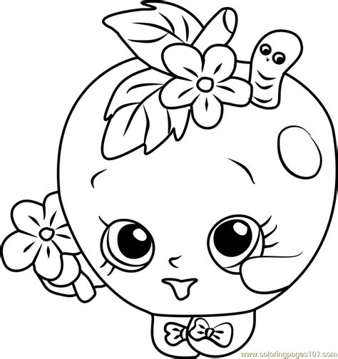 coloring pages of apple blossoms apple blossom shopkins coloring page free shopkins