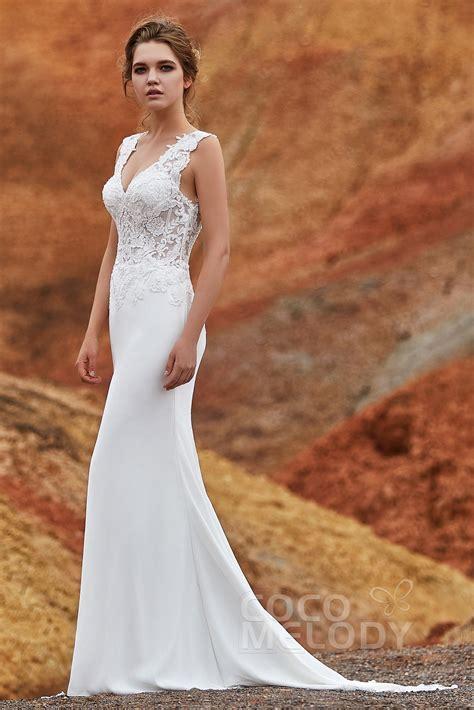 Trumpet Mermaid Knitted Fabric Wedding Dress LD5816