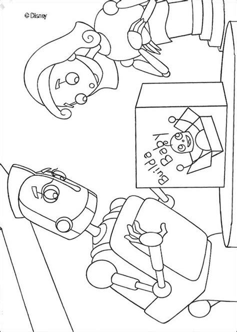 baby robot coloring page builda baby and rodney coloring pages hellokids com