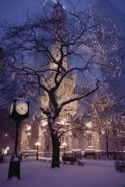 christmas lights photography snow winter image