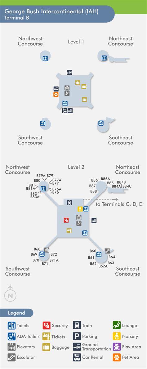 houston airport map food travelnerd terminal b