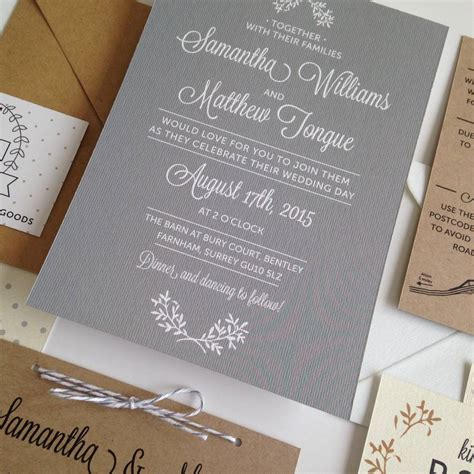 day wedding invitation by pear paper co notonthehighstreet - Day Wedding Invites