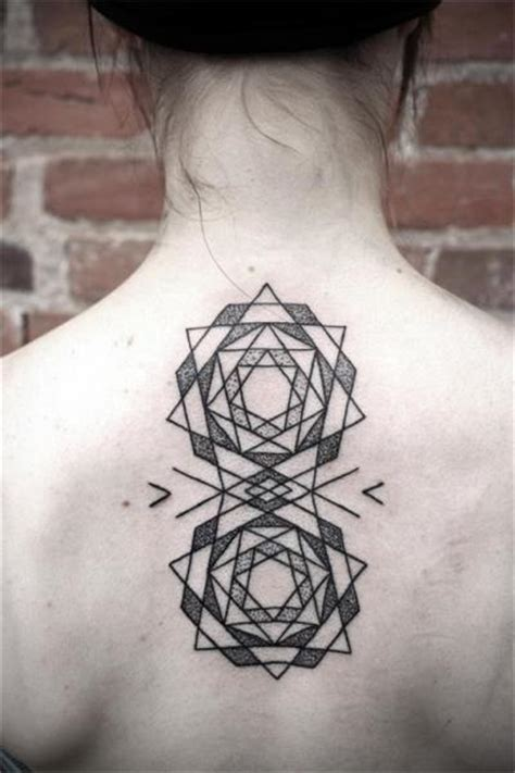 tattoo geometric back back dotwork geometric tattoo by kris davidson