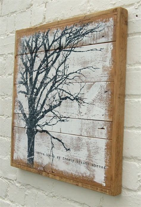 wooden wall hanging reclaimed wood painting art pinterest the white