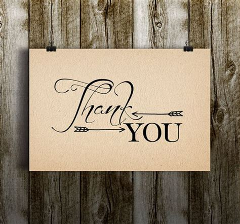 Rustic Thank You Card Template by Instant Rustic Arrows Thank You Tribal Aztec