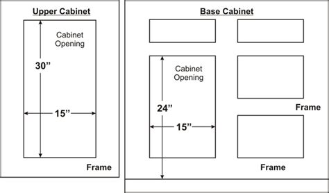 kitchen cabinet door sizes typical cabinet door dimensions best home decoration