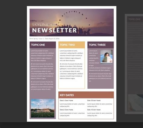 free microsoft publisher templates newsletter templates free