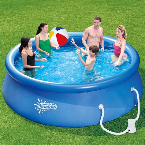 backyard swimming pools walmart intex recreation 58461ep backyard round pool reef design