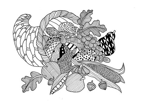 thanksgiving coloring pages for adults thanksgiving cornucopia thanksgiving coloring pages