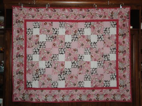 Softball Quilt by Baby Softball Quilt
