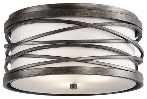 kichler lighting 78201 cfl bathroom mirror atg stores kichler krasi flush mount 3 light warm bronze