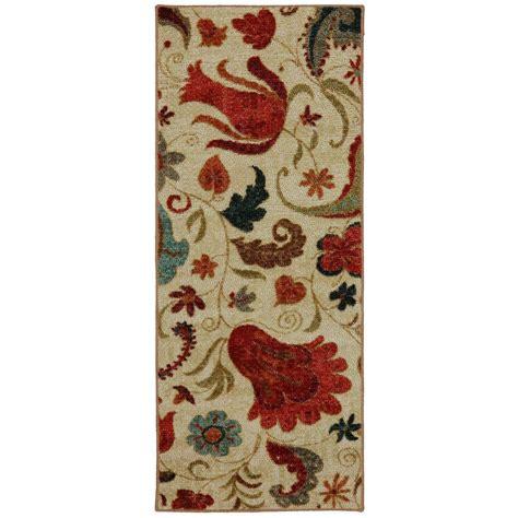 Mohawk Runner Rug Mohawk Home Select Strata Tropical Acres 2 Ft X 5 Ft Rug Runner 359713 The Home Depot