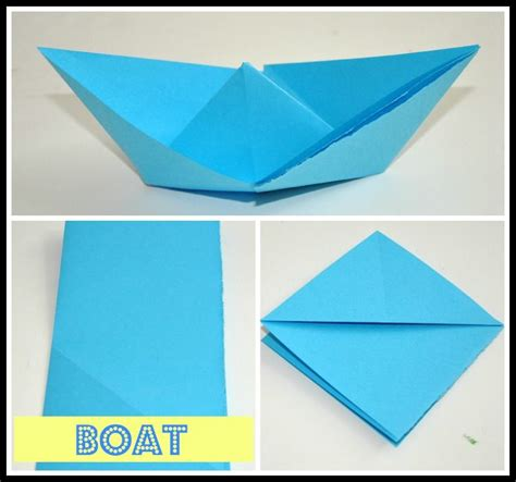 origami little boat instructions origami boat fun littles