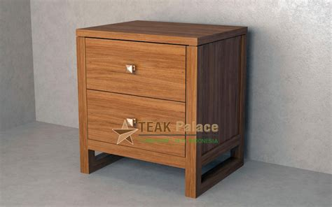 Ikea Nesna Bedside Table Brown Meja Tidur Cokelat 36x35x45 Cm bekasi nakas minimalis 2 laci kayu jati murah