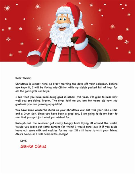 letters from santa template letter from santa template cyberuse