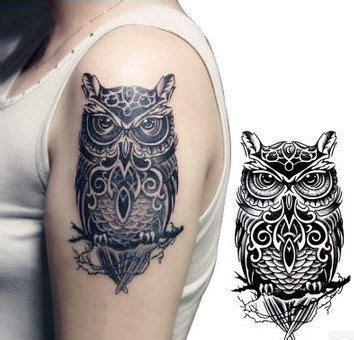 owl tattoo on woman s arm cute inspired girls big arm temporary owl tattoo sticker