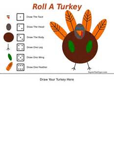 thanksgiving turkey games roll a turkey thanksgiving game