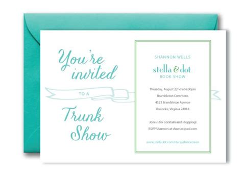 Stella And Dot Invitation Templates by 17 Best Images About Trunk Show Invite Ideas On