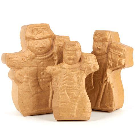 Paper Mache Craft Supplies - paper mache snowman box set paper mache basic craft