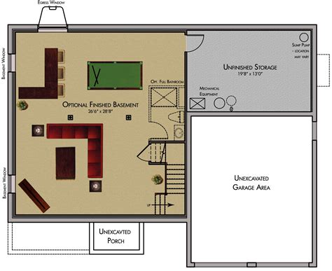 Small House Floor Plans With Basement by Small House Plans With Finished Basement House Plans
