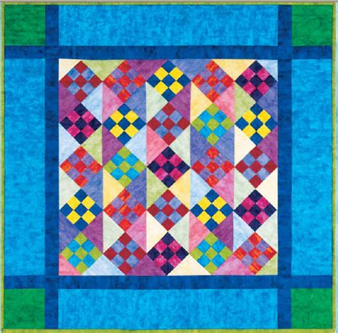 Amish Quilt Patterns Free by Amish Nine Patch Free Pattern Robert Kaufman Fabric Company