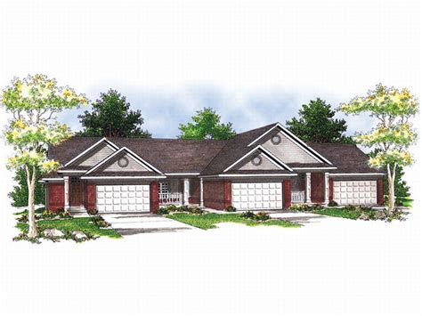 triplex home plans find house plans