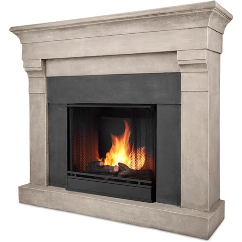 real torrence 50 inch gel fireplace with mantel