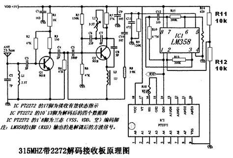 Pt2272 L4 Pt2272 L4 Tl2272 L4 Tl2272 Remote Decoder Ic pt2272 和 pt2262 的发射 与接收的的原理图 具体器件有参数的 不要红外 百度知道