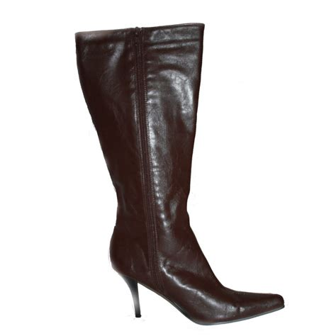leggsy brown high heel point boots by leggsy size