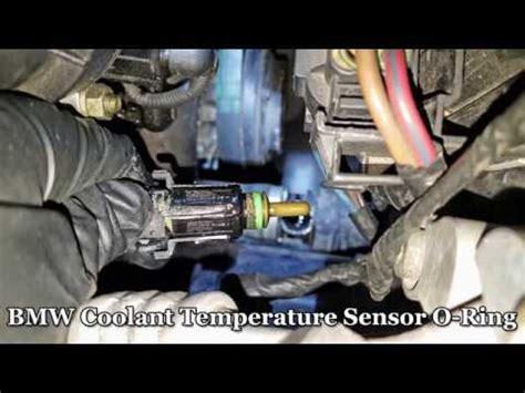 bmw 5 series coolant leak bmw coolant leak temp sensor o ring fix