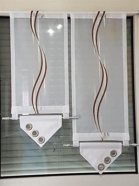 kurzgardine modern scheibengardine modern braun silber wei 223 ebay