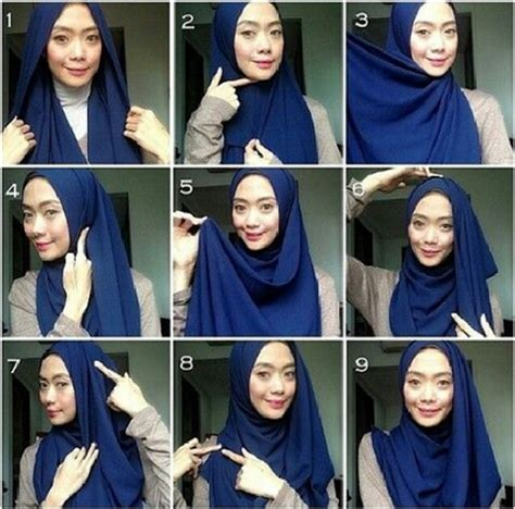 hijab tutorial simple look tanpa jarum dan peniti tutorial hijab modern praktis tanpa jarum pentul