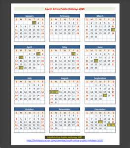 Calendar 2015 With Holidays South Africa South Africa Holidays 2015 Holidays Tracker