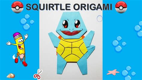 Origami Squirtle - go origami squirtle tutorial diy origami how to