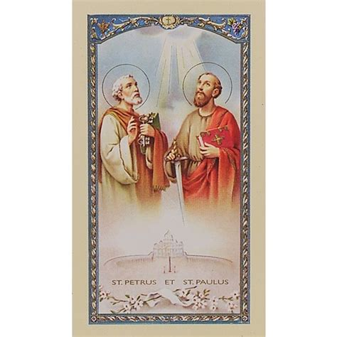 sts for cards novena to sts and paul prayer card the catholic